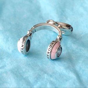 Pandora Pink Headphones Dangle Charm